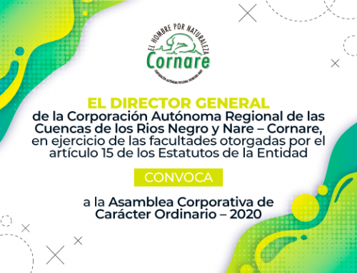 Convocatoria a la Asamblea General Corporativa CORNARE – 2020