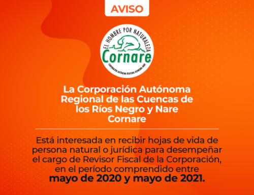 Convocatoria Revisor Fiscal de la Corporación 2020 - 2021