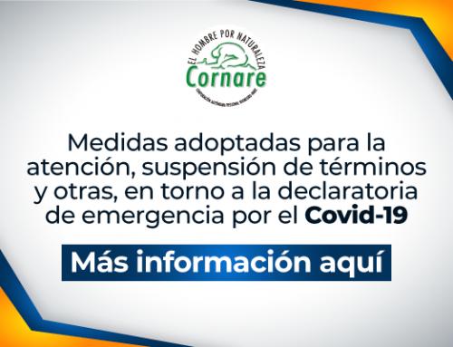 Medidas adoptadas para la atención, suspensión de términos y otras, en torno a la declaratoria de emergencia por el Covid-19