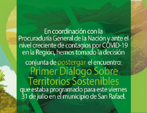Primer Diálogo sobre Territorios Sostenibles