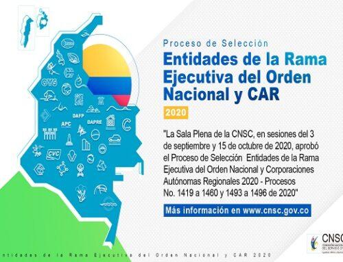 Proceso de Selección Entidades de la Rama Ejecutiva del Orden Nacional y Corporaciones Autónomas Regionales