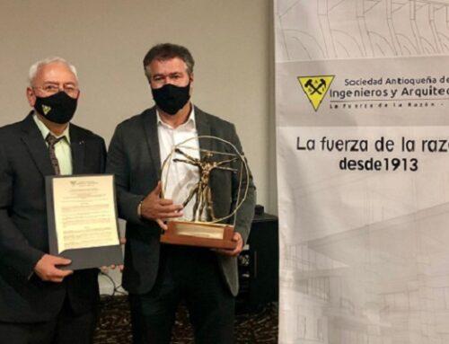 Sociedad Antioqueña de Ingenieros y Arquitectos entregó reconocimiento a Cornare