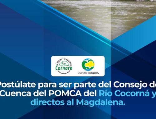 Aviso de Convocatoria Pública - Elección de Representantes del Consejo de Cuenca del Rio Cocorná y Directos al Magdalena